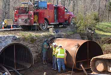 culvert rehabilitation steel slip liner