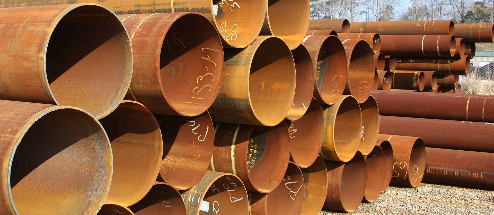 structural pipe stockyard